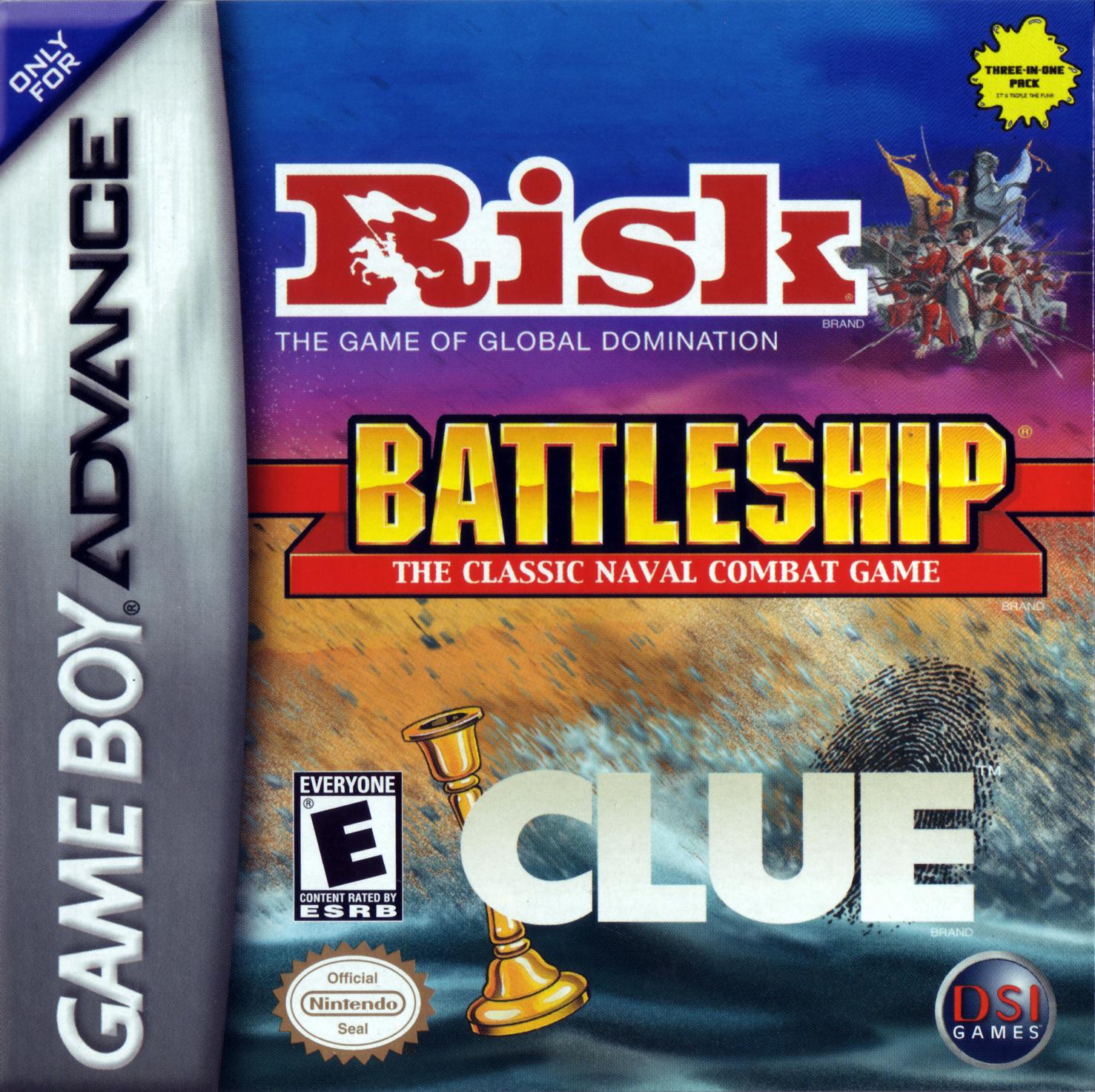 Risk, Battleship, & Clue