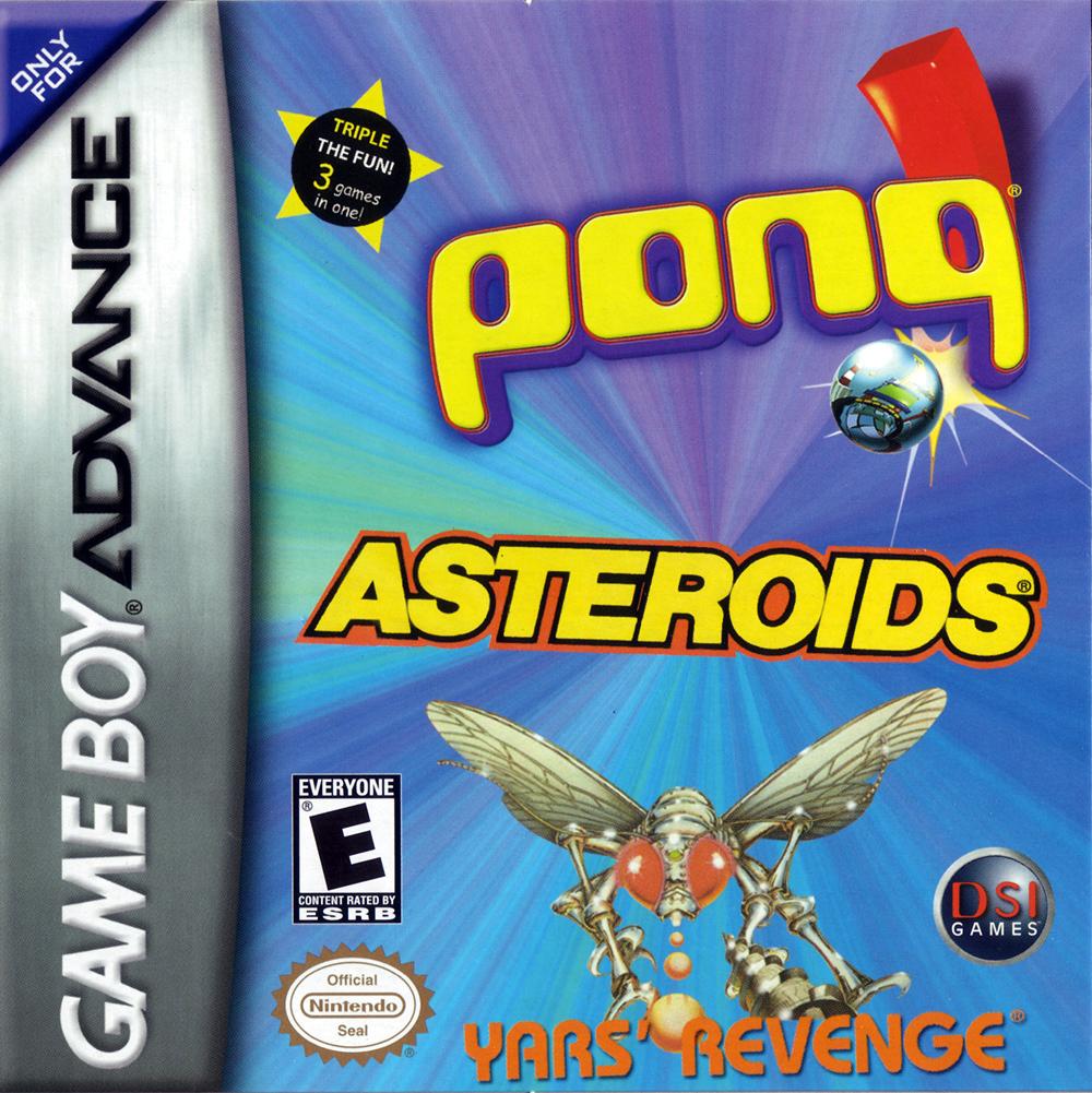 Pong, Asteroids, Yars Revenge