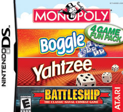 4 Game Fun Pack Monopoly