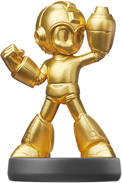 Amiibo - Gold Mega Man