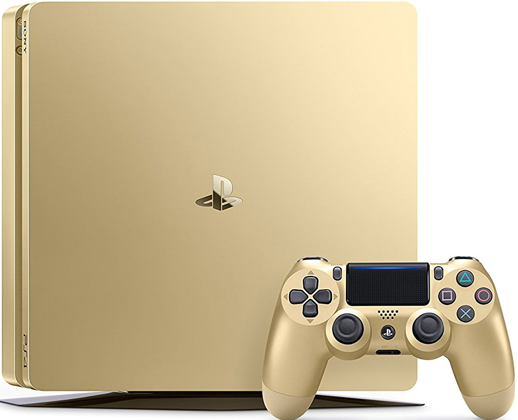 1TB Gold Slim PS4 Console